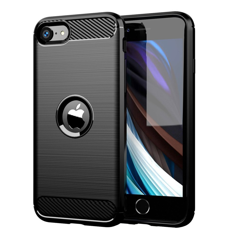 Carbon Case Flexible Cover TPU Case for iPhone XR | Black | 7426825378033