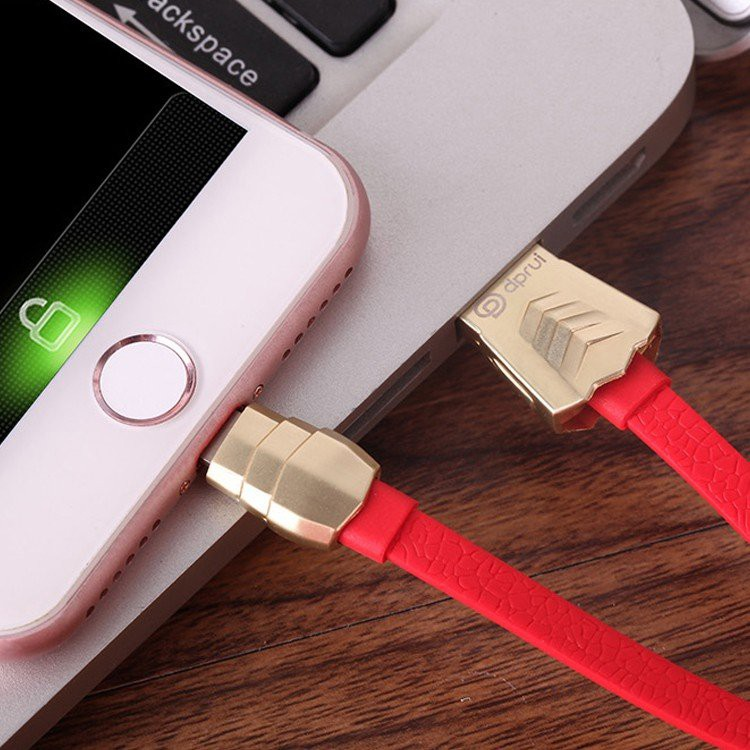 dprui Armorer Sportscar Metal Fabric Lighting Cable 1.2m FastCharging RED