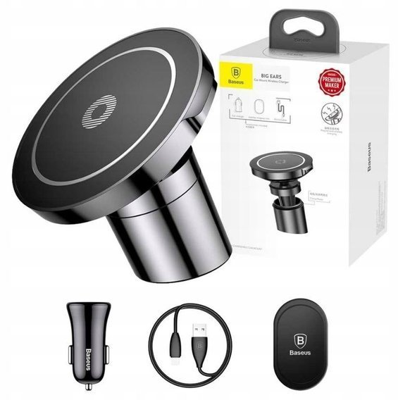 Baseus Car Mount Big Ears Wireless Charger