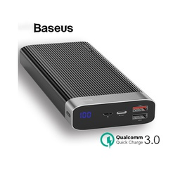 [6953156275256] Baseus Power Bank 20000mAh |18W Max | Type C | Quick Charge | BLK