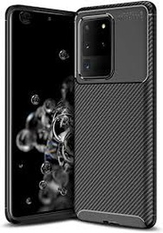 [9111201893191] Carbon Case Flexible Cover TPU Case for Samsung Galaxy S20 Ultra | Black | 9111201893191