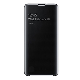 [7426825364692] Clear View Case cover for Samsung Galaxy S10 | Black | 7426825364692