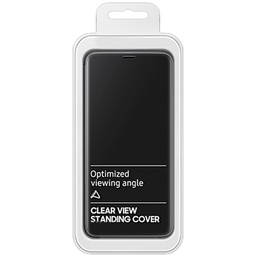 [9111201900134] ClearView Standing Cover Mi 10 Lite | Black | 9111201900134