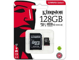 [530514] Kingston SDCS/128GB MicroSD Canvas Select Class 10 UHS-I speeds Up to 80 MB/s Read ( SD Adapter Included) | SDCS/128GB